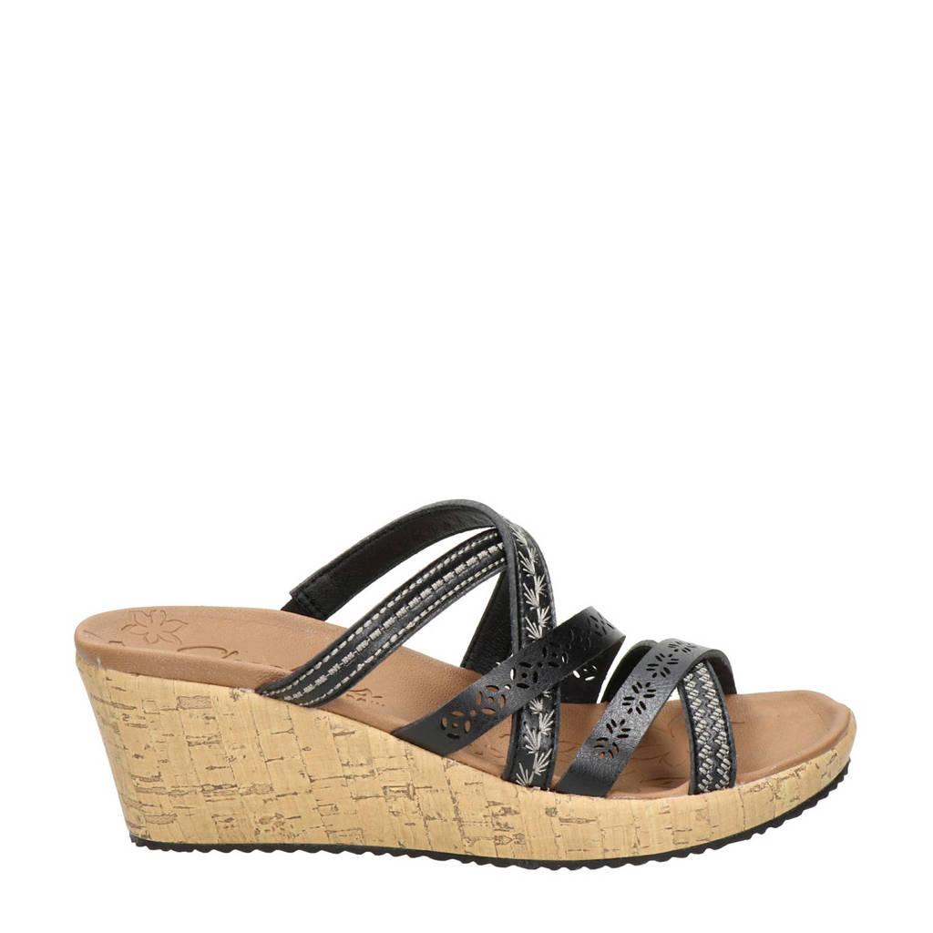 Skechers Luxe Foam  slippers zwart, Zwart