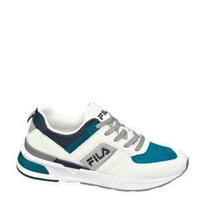 Racetrack  sneakers wit/petrol