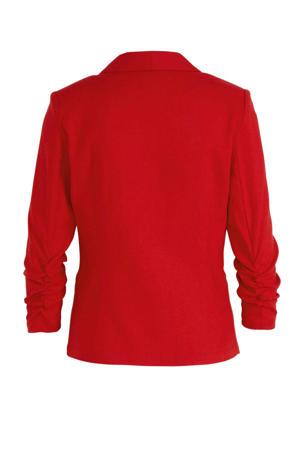 blazer met linnen rood