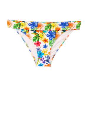 bikinibroekje met bloemenprint rood