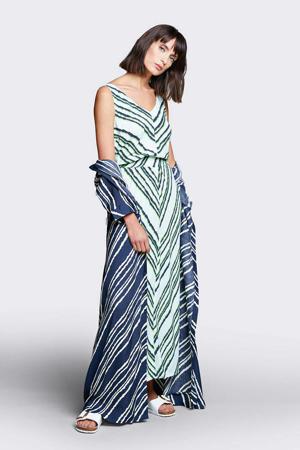 jurk met all over print mintgroen