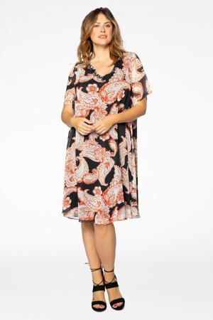 semi-transparante jurk met paisleyprint multi