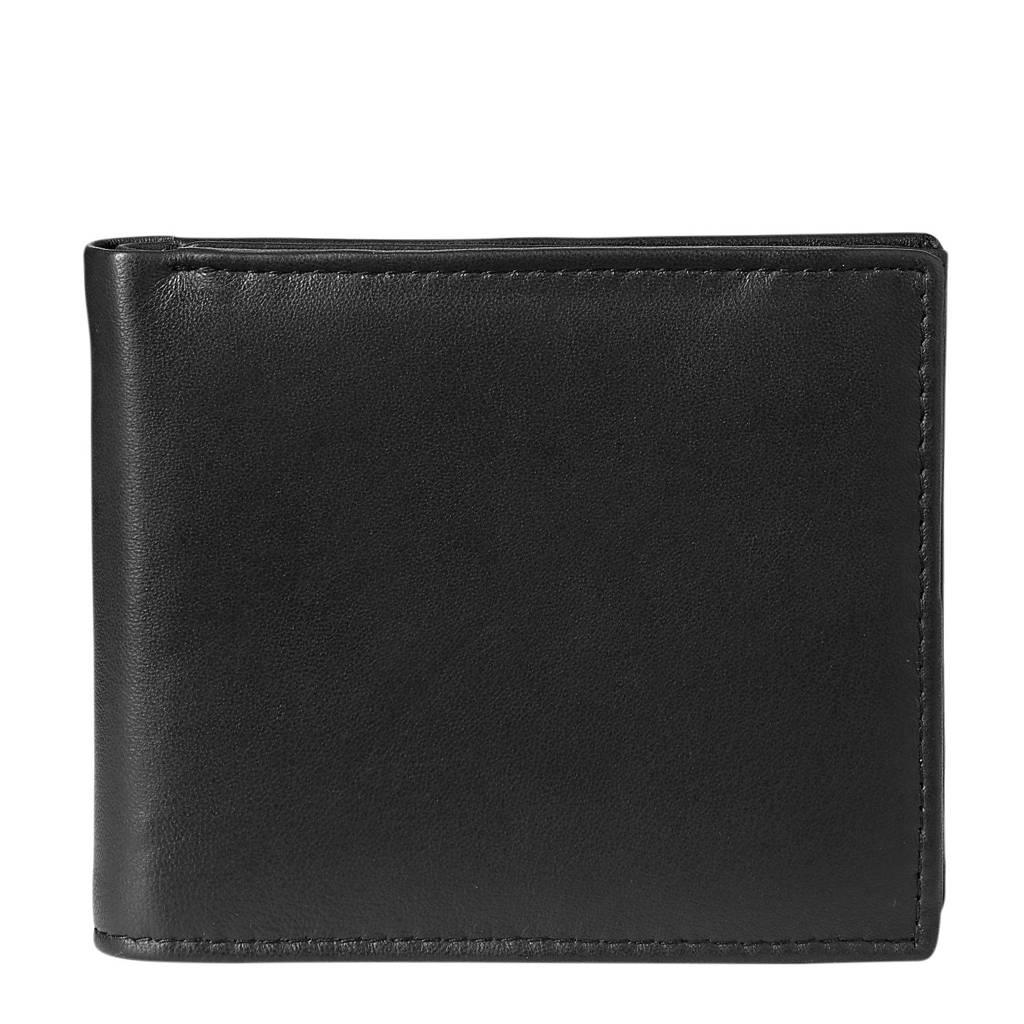 HEMA leren portemonnee zwart, Zwart