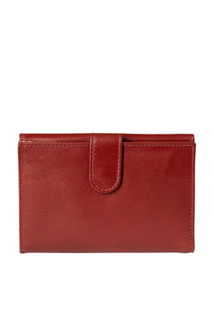 leren portemonnee rood