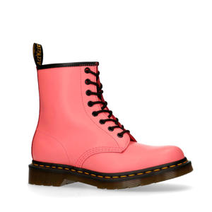 1460 Smooth Pink leren veterboots roze