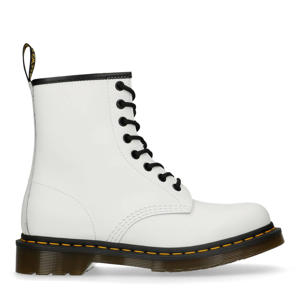 1460 White Smooth leren veterboots wit