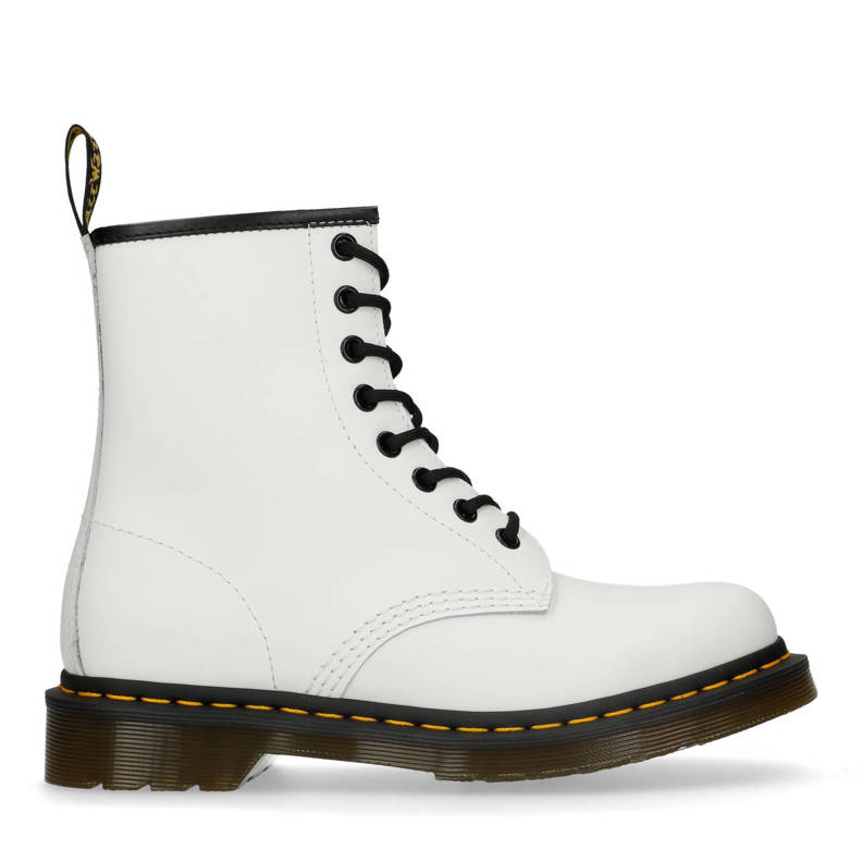 1460 Smooth White leren veterboots wit