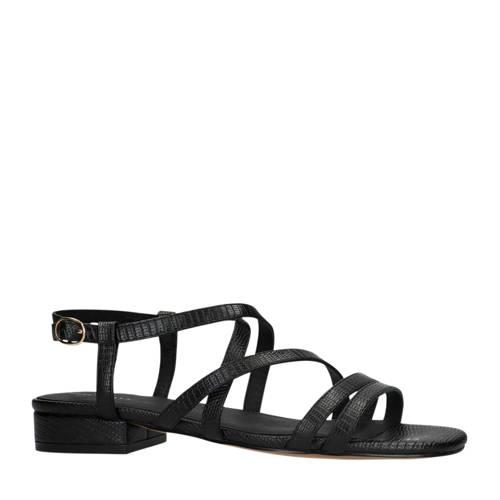 Sacha sandalen slangenprint zwart