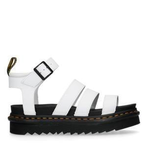 Blaire White leren plateau sandalen wit