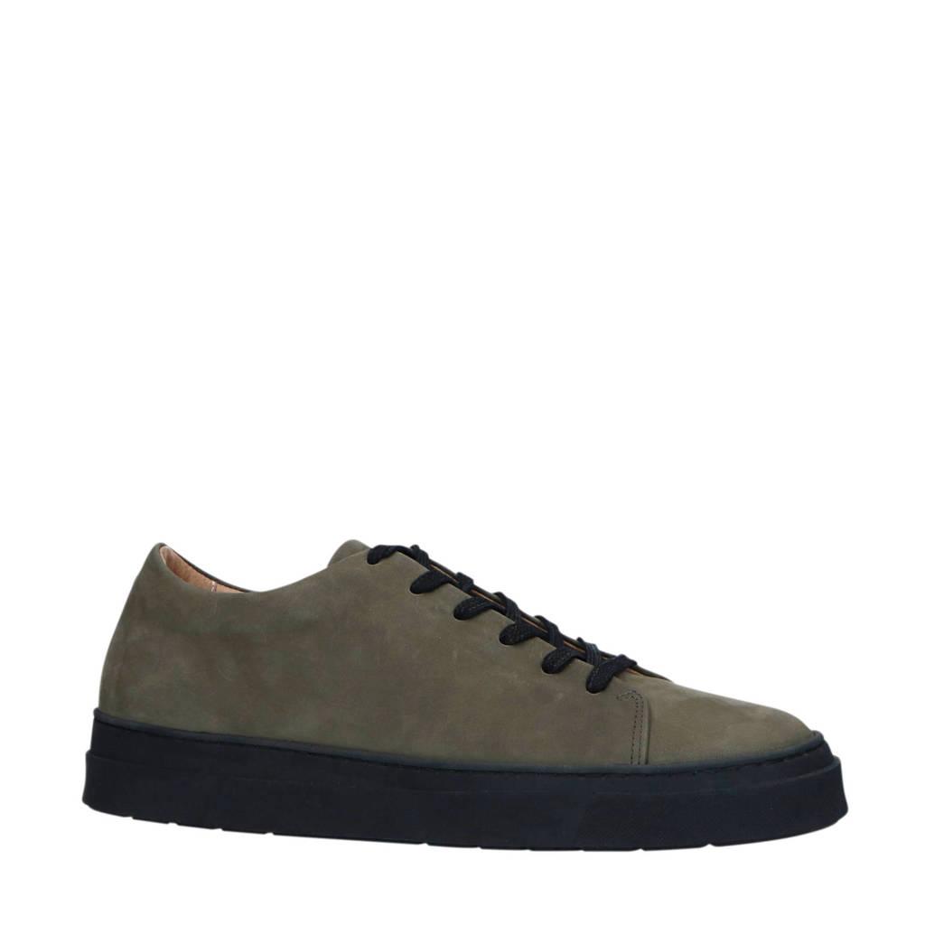 Sacha x Rien Welsink  nubuck sneakers kaki, Kaki