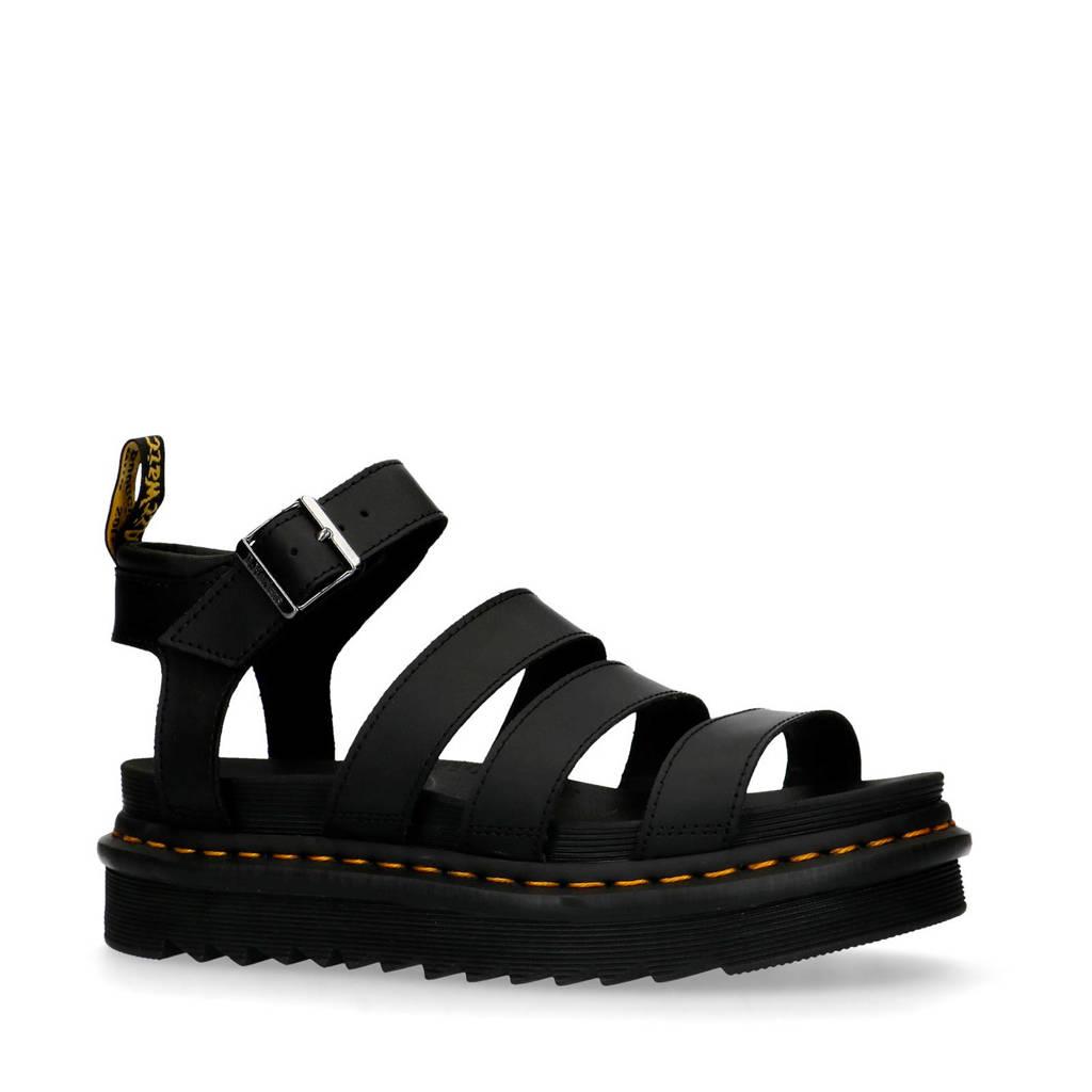 Dr. Martens Vegan Blaire Brando  plateau sandalen zwart, Zwart