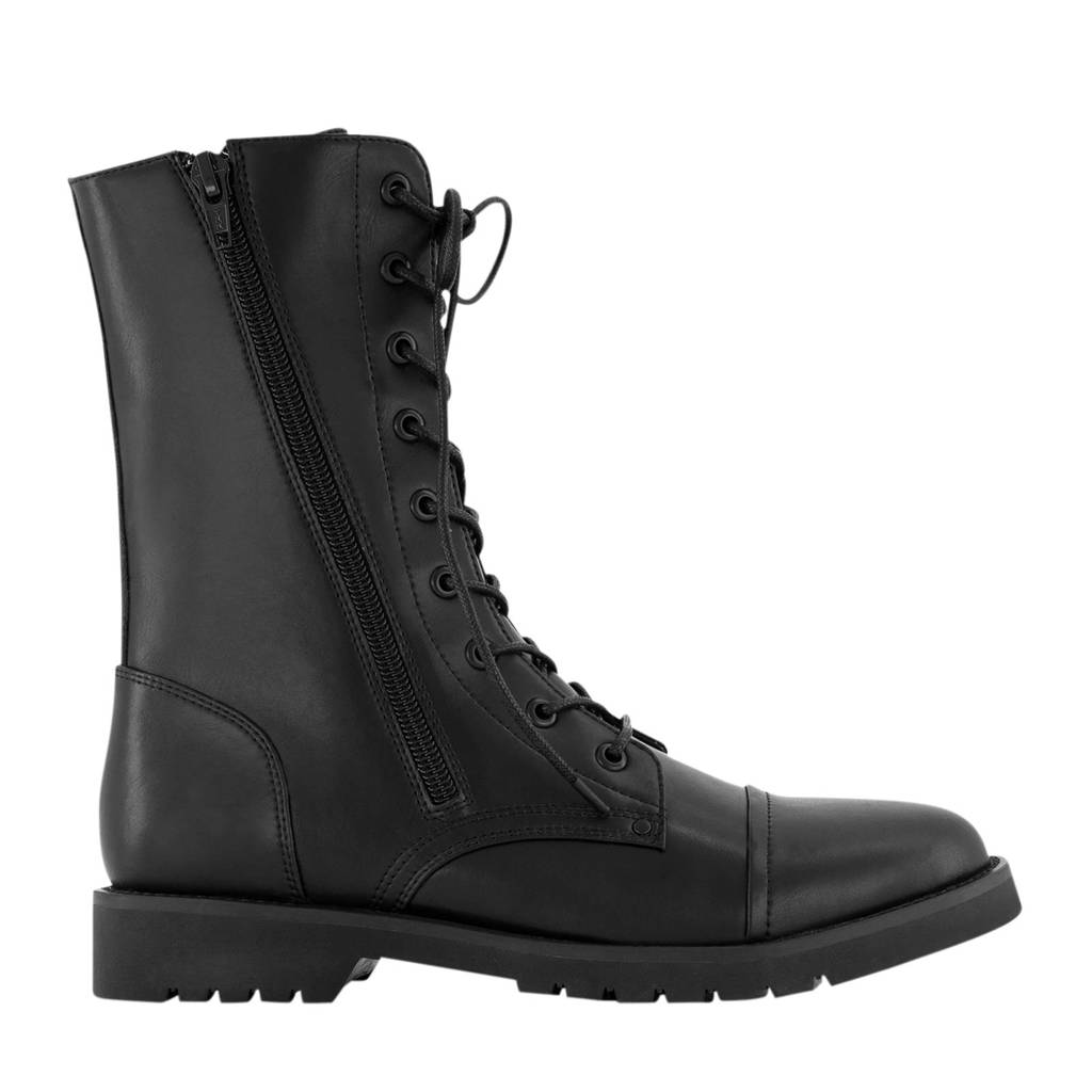 NIK&NIK Becky Boots  veterboots zwart, Zwart