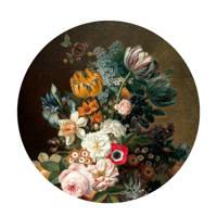 KEK Amsterdam behangcirkel Golden Age Flowers (Ø142.5 cm), Multi groen