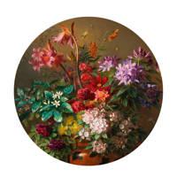 KEK Amsterdam behangcirkel Golden Age Flowers (Ø190 cm), multi roze
