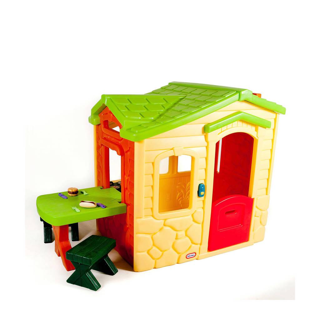 Little Tikes speelhuis Picknic, Geel/groen/rood