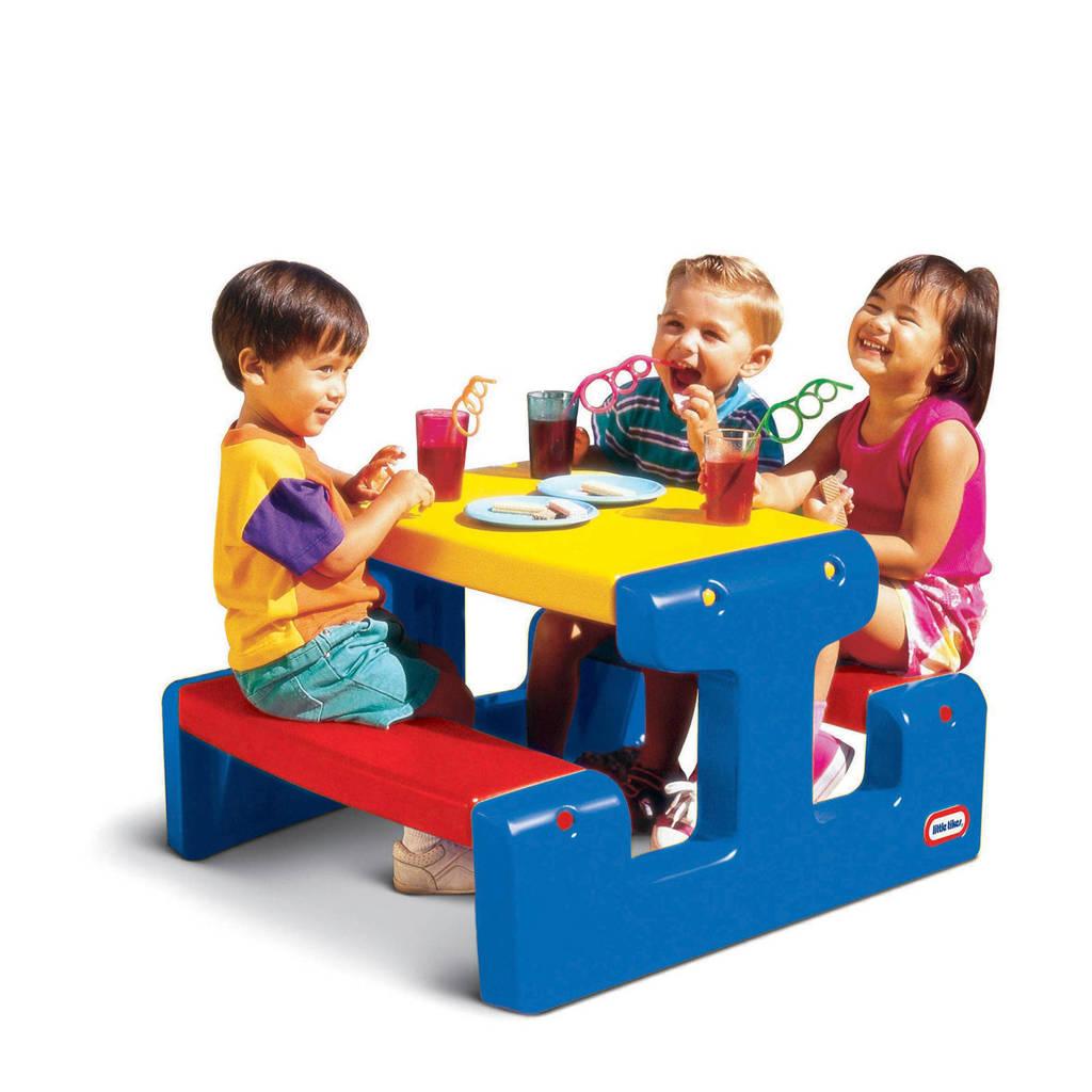 Little Tikes picknicktafel blauw, Blauw/geel/rood