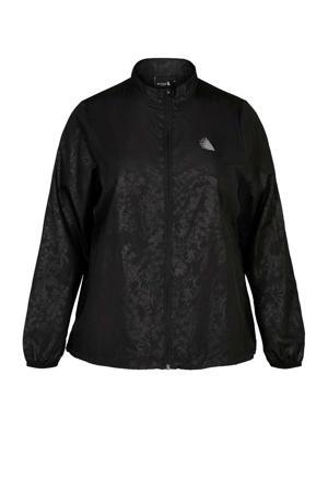 Plus Size sportvest zwart