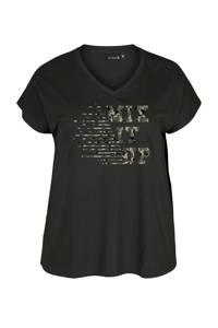 ACTIVE By Zizzi Plus Size sport T-shirt zwart, Zwart