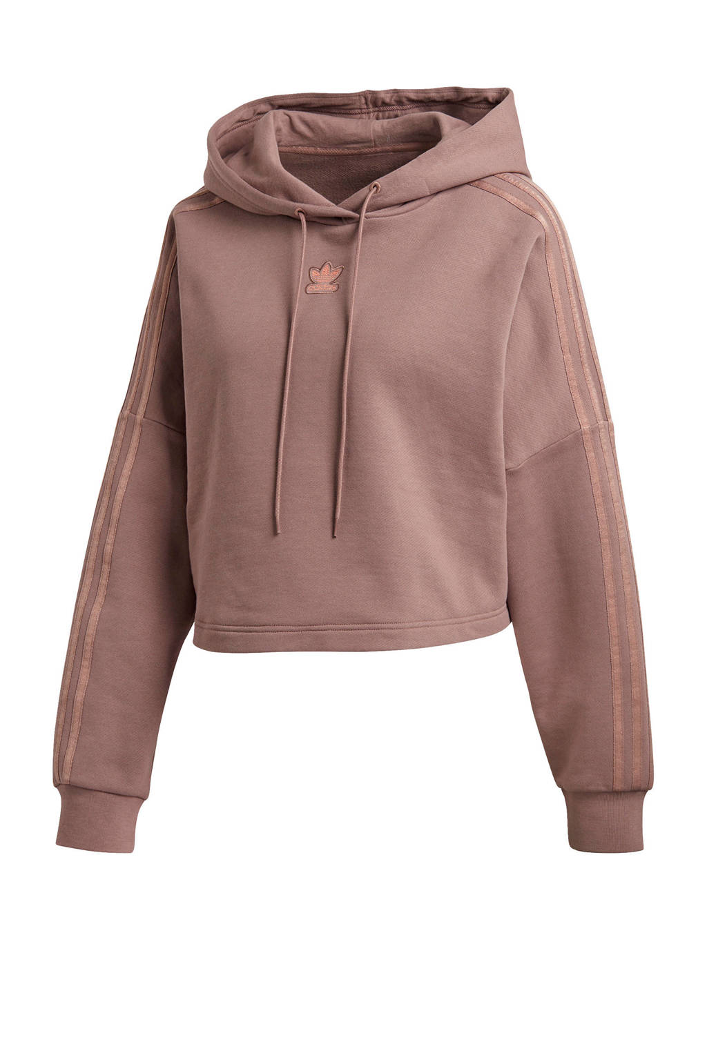 adidas Originals New Neutral cropped hoodie taupe, Taupe