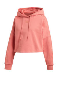 adidas Originals New Neutral cropped hoodie oudroze, Oudroze