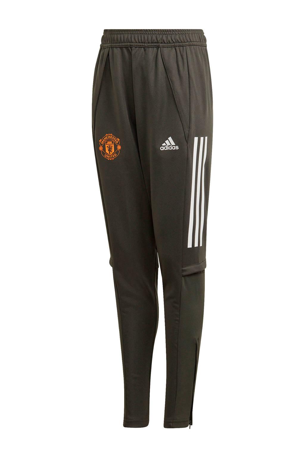 adidas Performance Junior Manchester United voetbalbroek Training, Donkergroen