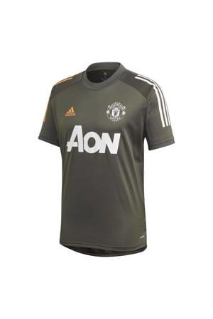 Manchester United trainings T-shirt grijsbruin 2020/2021