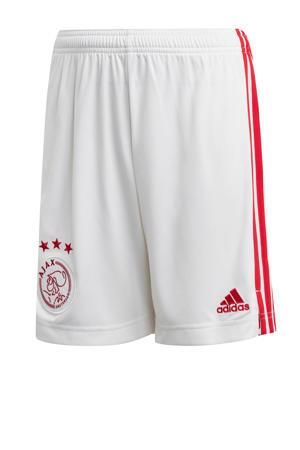 Junior Ajax thuis short wit/rood