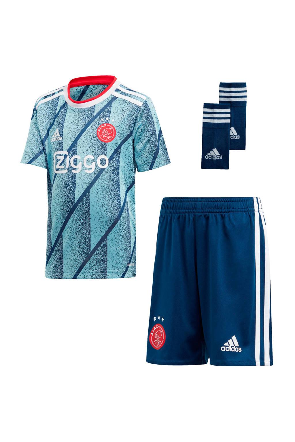adidas Performance Junior Ajax uit sportset, Lichtblauw/donkerblauw
