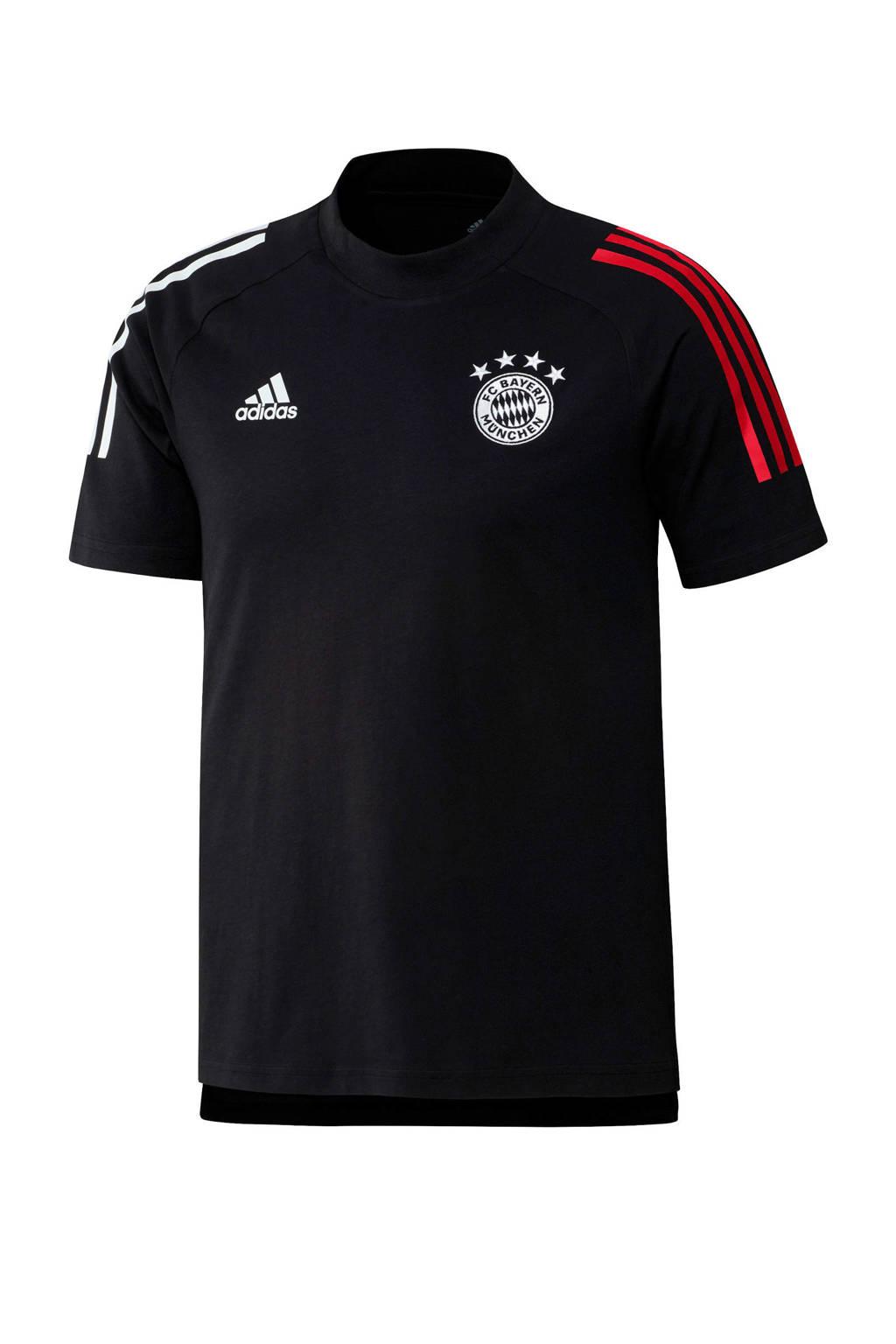 adidas Performance Senior FC Bayern München T-shirt zwart, Zwart