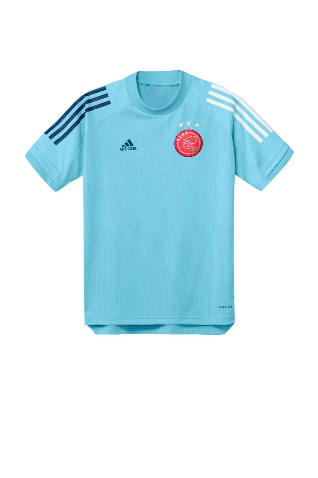adidas Performance Junior Ajax training T-shirt lichtblauw, Lichtblauw