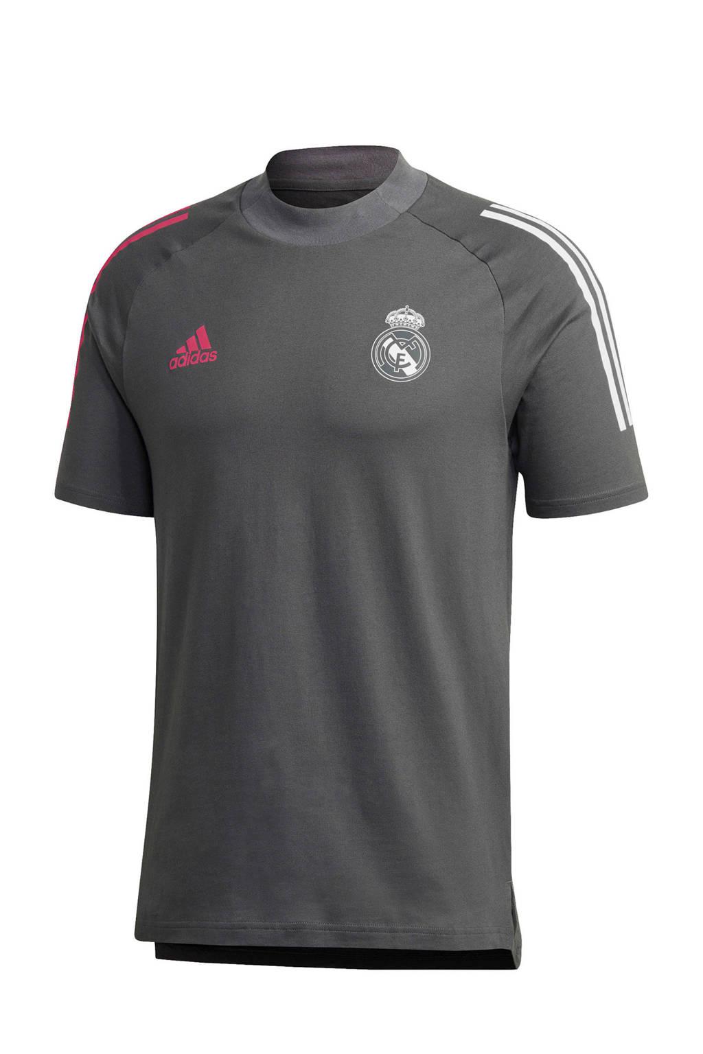adidas Performance Senior Real Madrid voetbalshirt, Grijs