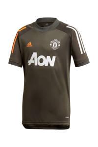adidas Performance Junior Manchester United voetbalshirt Training, Donkergroen