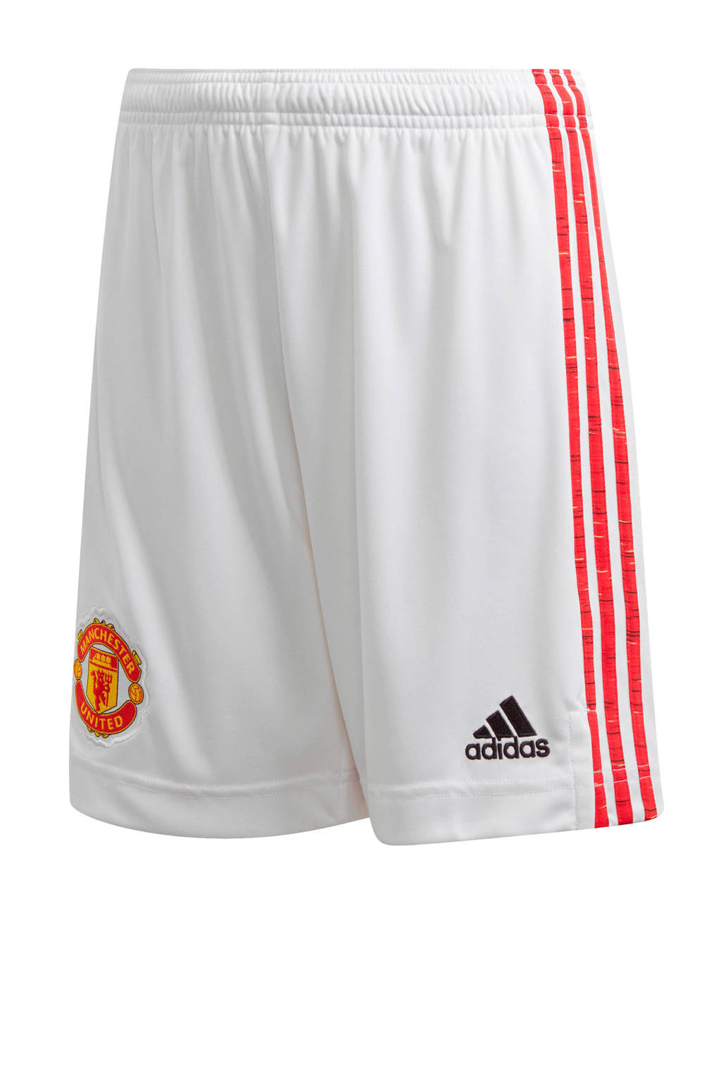 adidas Performance Junior Manchester United thuis short wit/rood, Wit/rood