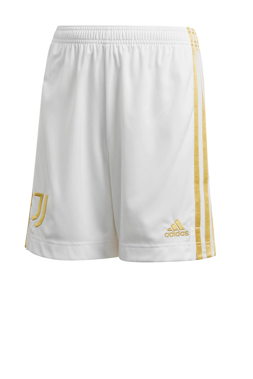 adidas Performance Junior Juventus voetbalshort Thuis wit/geel, Wit/geel