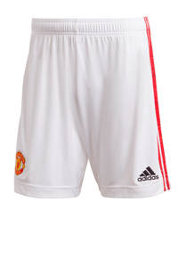 adidas Performance Senior Manchester United thuis short wit/rood, Wit/rood