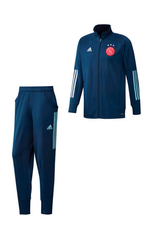 Senior Ajax trainingspak donkerblauw