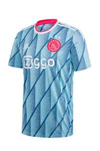 adidas Performance Senior Ajax uit T-shirt lichtblauw/wit, Lichtblauw/wit