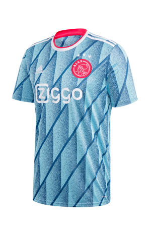 Senior Ajax uit T-shirt lichtblauw/wit