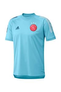 adidas Performance Senior Ajax training T-shirt lichtblauw, Lichtblauw