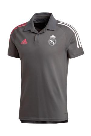 Senior Real Madrid voetbalpolo donkergrijs