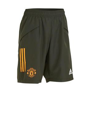 Manchester United voetbalshort donkergroen