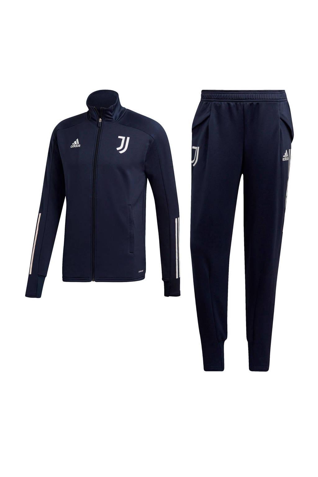 adidas Performance Senior Juventus trainingspak donkerblauw, Donkerblauw