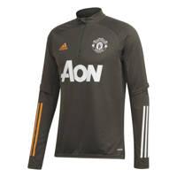 adidas Performance  Manchester United trainings sweater grijsbruin 2020/2021, Grijsbruin