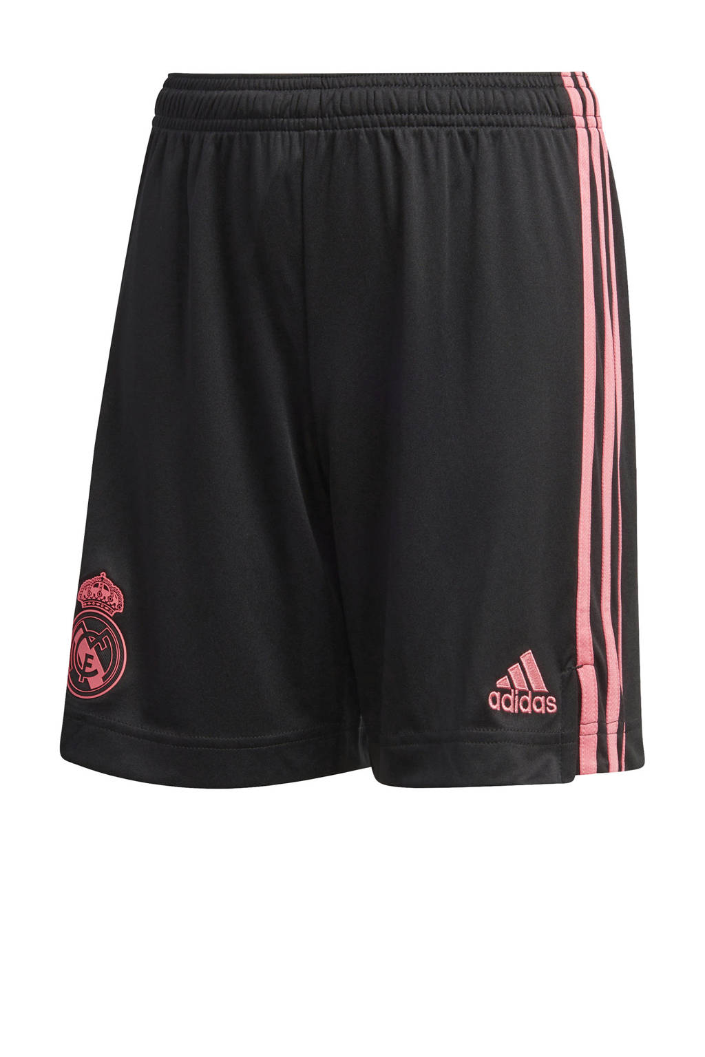 adidas Performance Junior Real Madrid voetbalshort zwart/roze, Zwart/roze