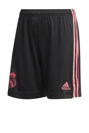 Junior Real Madrid voetbalshort zwart/roze