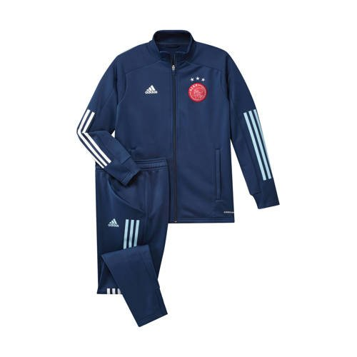 adidas Performance Junior Ajax trainingspak donkerblauw