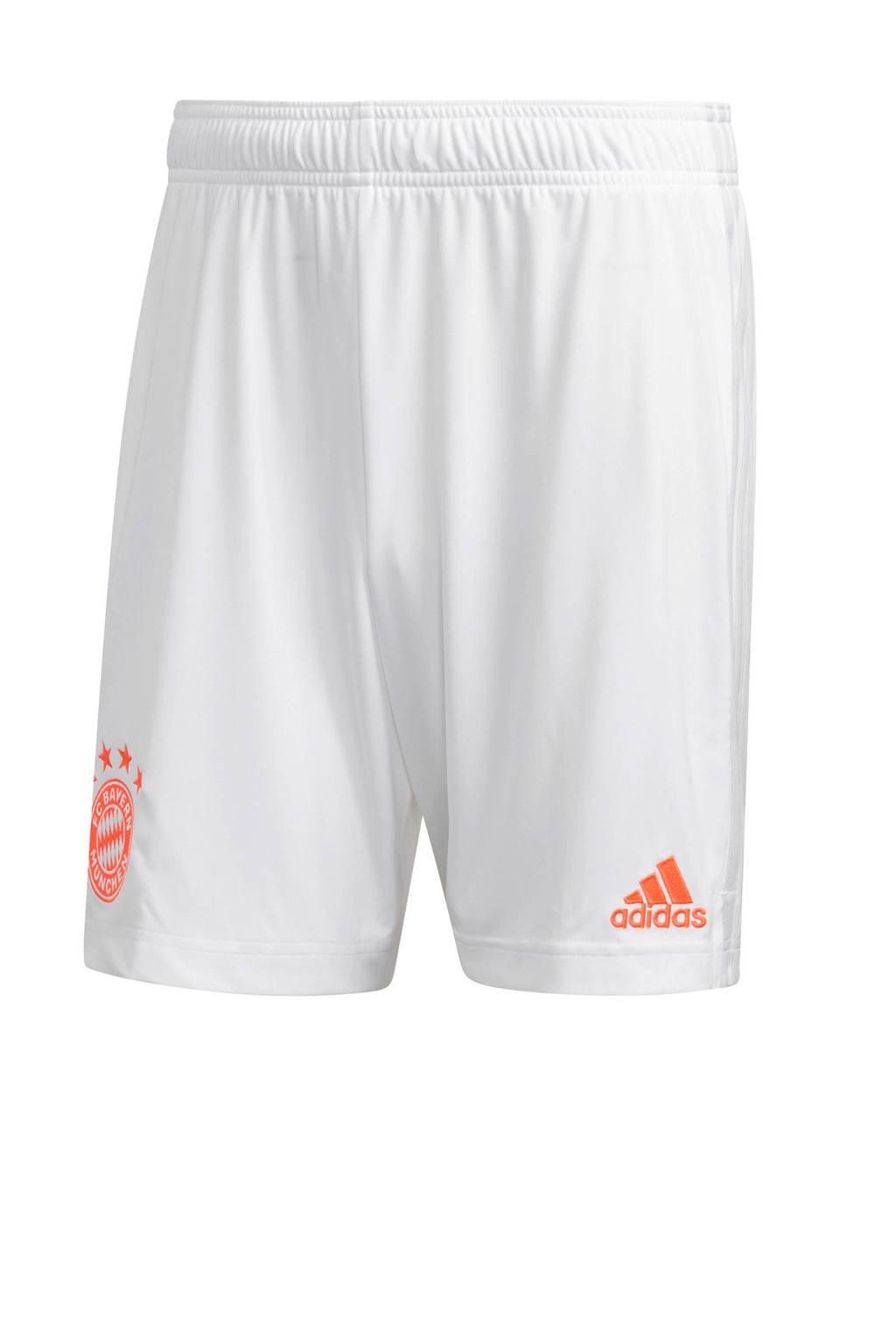 adidas Performance Senior FC Bayern München uit short wit/oranje, Wit/oranje