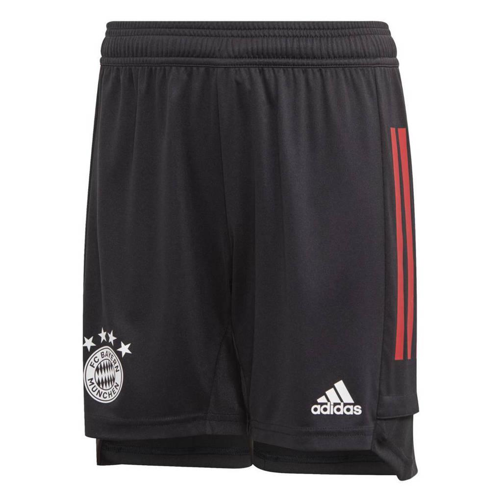 adidas Performance Junior FC Bayern München voetbalshort Training, Zwart