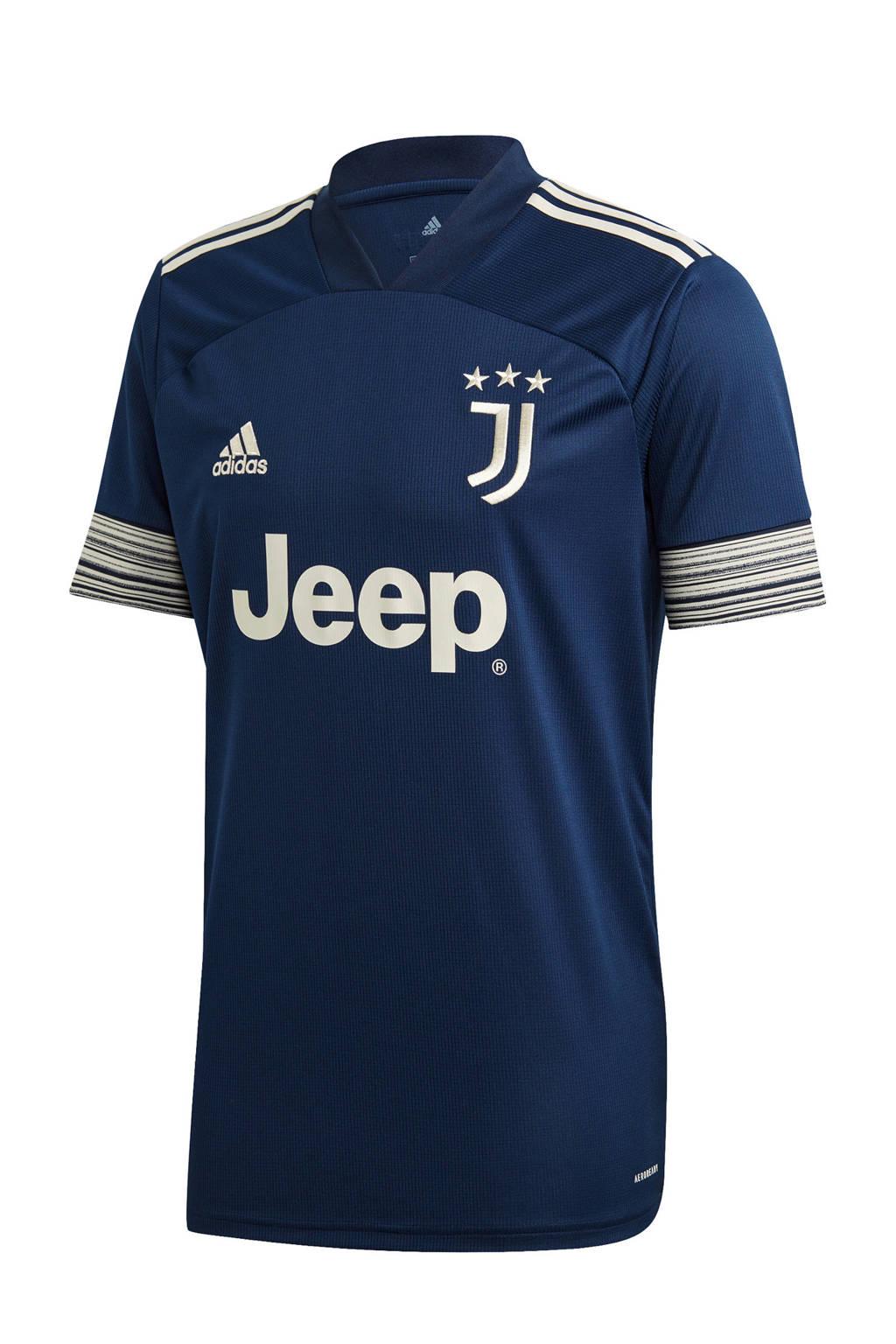 adidas Performance  Juventus voetbalshirt Uit, Donkerblauw/geel
