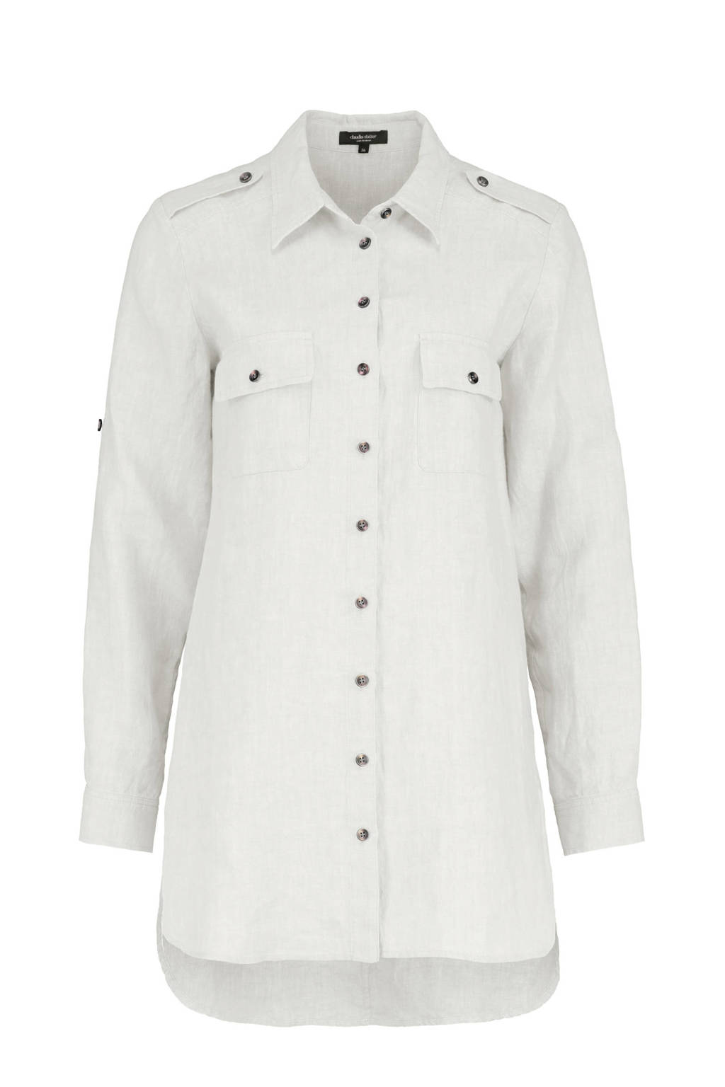 Claudia Sträter linnen blouse off white, Off White